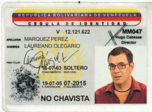 Cèdula de Identidad de LAUREANO MARQUEZ